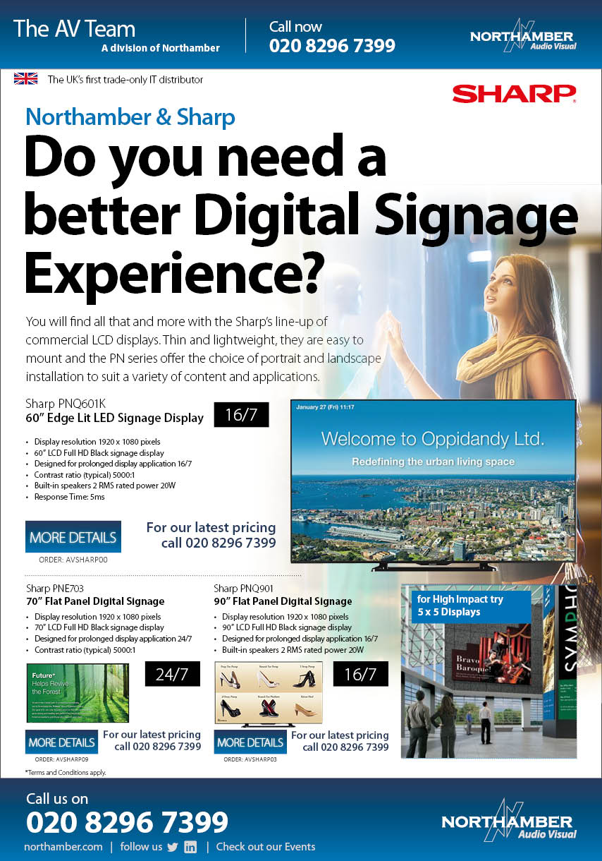 Do you need a better Digital Signage Experience? then think Sharp