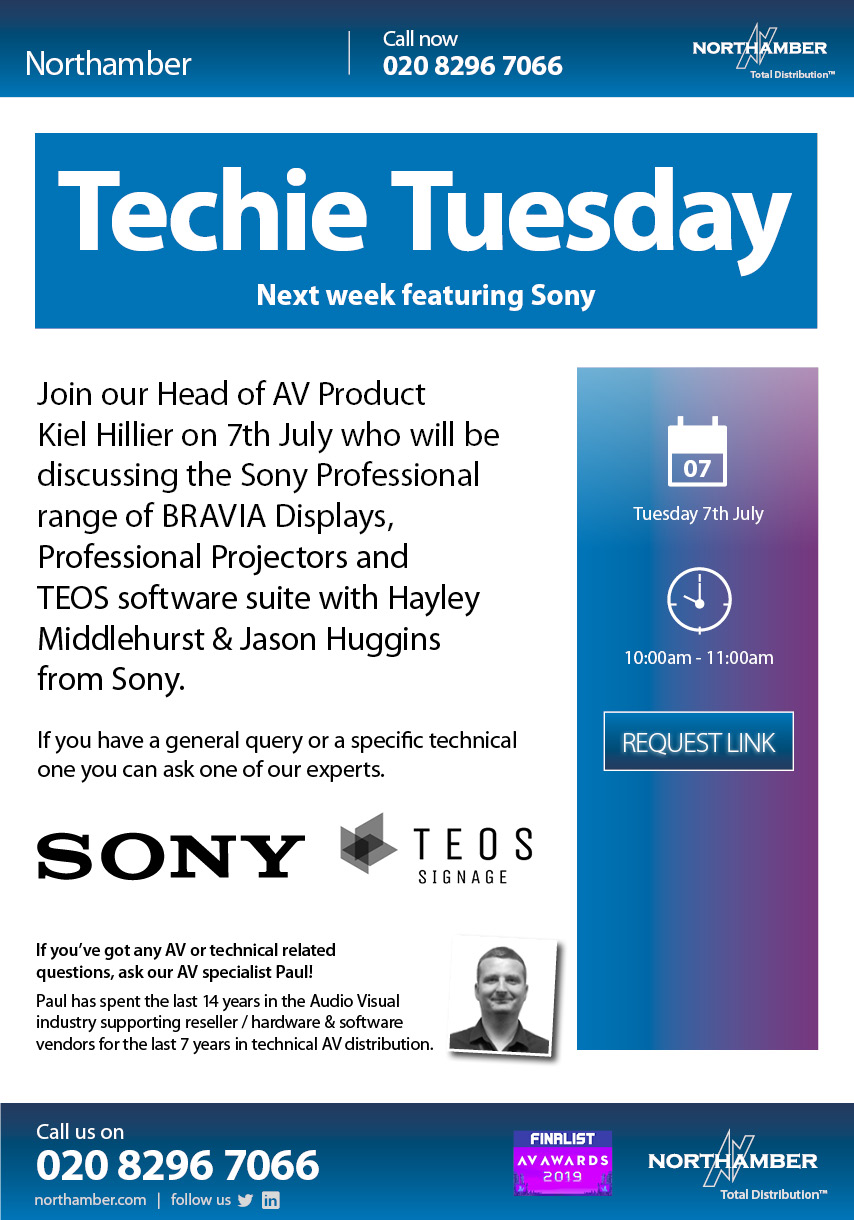 Supporting our resellers with Infrastructure and AV drop-in sessions... it's Techie Tuesdays!