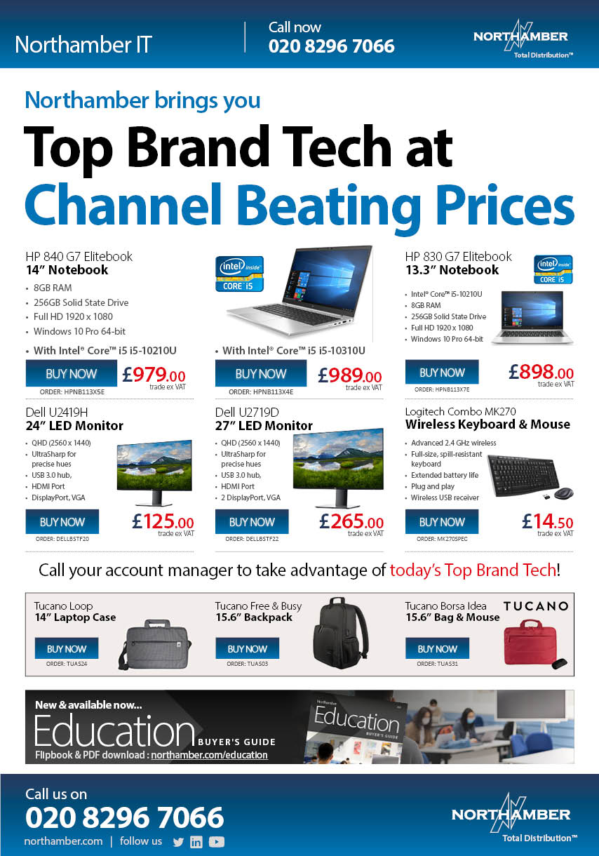 Top Brand Tech ready for next day delivery - call us today!