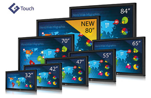 """Genee G-Touch Slim Classic 65"""" Interactive Touch Screen"""